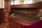The schooner Atlantic, guest ensuite stateroom with two single (bunk) beds...