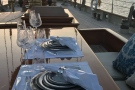 The schooner Atlantic, luxurious al fresco dining...